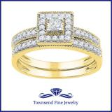 0.50CTW DIAMOND BRIDAL SET