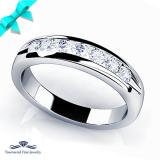 Seven Diamonds Channel Wedding Band
