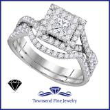 0.14K WHITE GOLD 89CTW DIAMOND BRIDAL SET