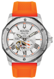 Marine Star Orange textured silicone strap