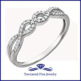 14kt White 1/8 CTW Diamond Ring
